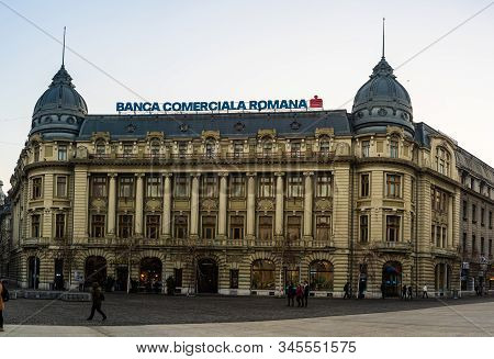 The Oscar Maugsch Palace, Romanian Commercial Bank Headquarters, A Historical Monument In Downtown B