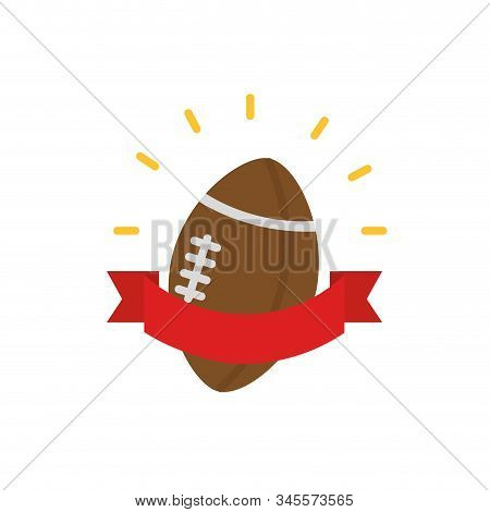 Ball And Ribbon Design, American Football Super Bowl Sport Hobby Competition Game Training Equipment