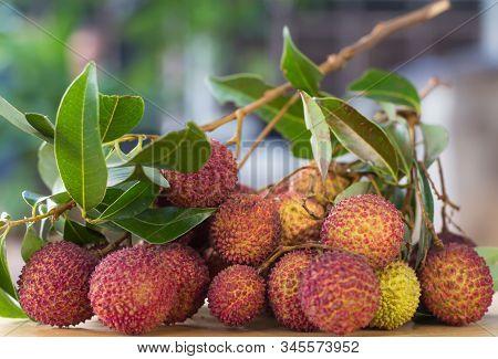 Fruit / Litchi Fruit On Table.selective Focus