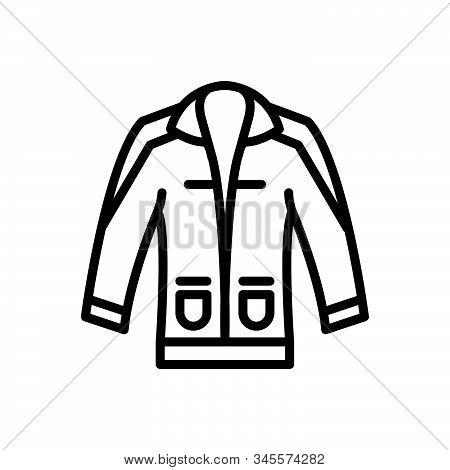 Black Line Icon For Clothing Dress Costume Attire Raiment Garment