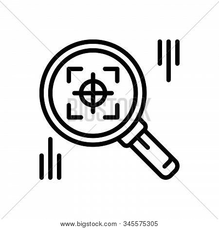 Black Line Icon For Finder Search Quest Discovery Find
