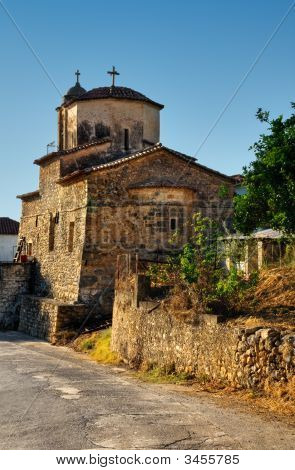 Chuch In A Greek Village