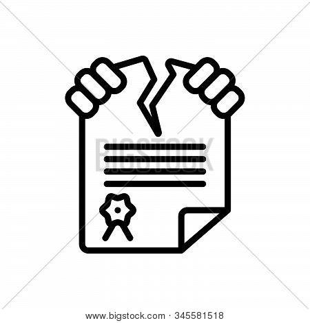 Black Line Icon For Infringement Violation Breach Contravention Outrage