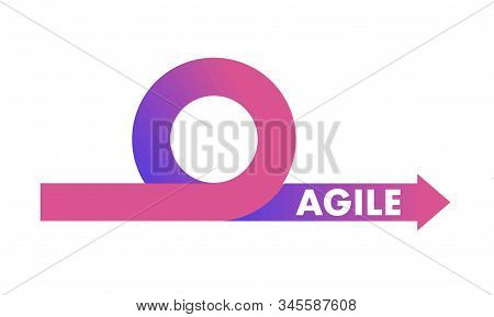 Agile Development Methodology Icon Vector Illustration. Agile Life Cycle Icon Vector