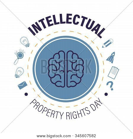 Intellectual Property Rights Day Isolated Icon, Copyright And Invention Protection