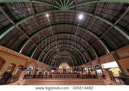 Dubai, Uae - January 08, 2012: View Of The Roof Structure Of The Mall Of The Emirates. This Mall Was