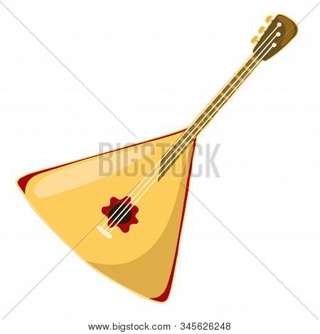 Russian Balalaika Isolated On A White Background. Vector Image.