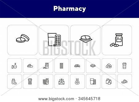 Pharmacy Icon Set. Drugstore Concept. Vector Illustration Can Be Used For Topics Like Apothecary, Ph