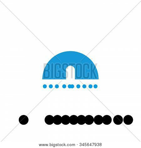 Logo Design With Eskimo House Icon, Blue Color