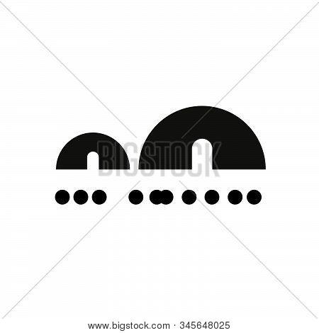 Logo Design With Eskimo House Icon, Black Color. Vector Logo