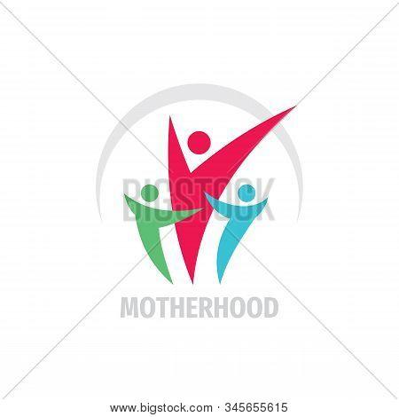 Motherhood Concept Logo Vector Design. Family Creative Sign. Health Care Symbol. Motherhood Family C