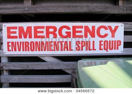 Environmental Emergency sign
