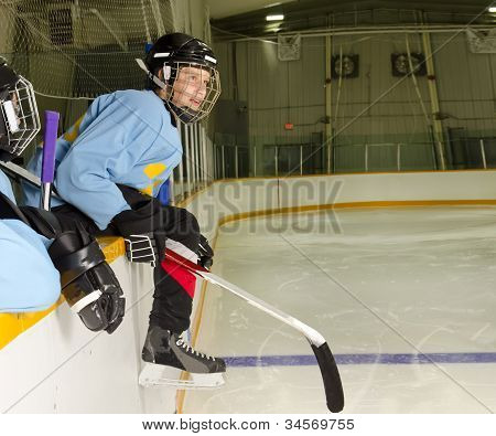 Hockey Player Ready To Play