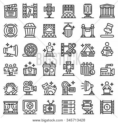 Art Director Icons Set. Outline Set Of Art Director Vector Icons For Web Design Isolated On White Ba