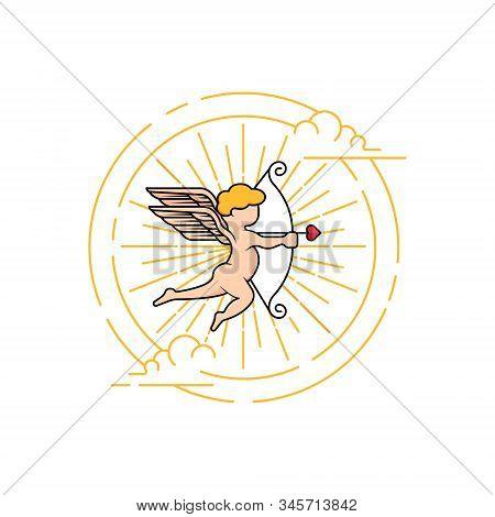 Cupid Icon. Valentine's Day Symbol.