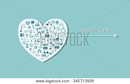 Health Care Concept With Medical Icons On