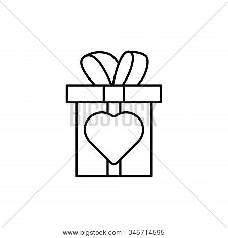 Gift Box Icon Isolated On White Background From Event Collection. Gift Box Icon Trendy And Modern Gi