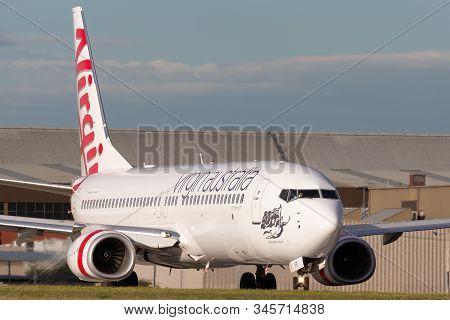 Melbourne, Australia - June 23, 2015: Virgin Australia Airlines 100th Boeing 737 Vh-yfr Named Scaman