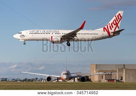 Melbourne, Australia - June 23, 2015: Virgin Australia Airlines Boeing 737-800 Airliner About To Lan