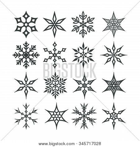 Set Of Snowflakes. Snowflakes Vector Icons, Snowflakes Icon, Snowflakes Collection, Set Snowflakes I