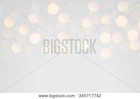 Soft Gray Bokeh Light Effect Background Design