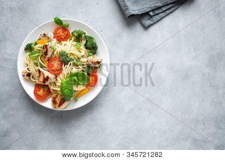 Chicken Pasta Spaghetti Primavera