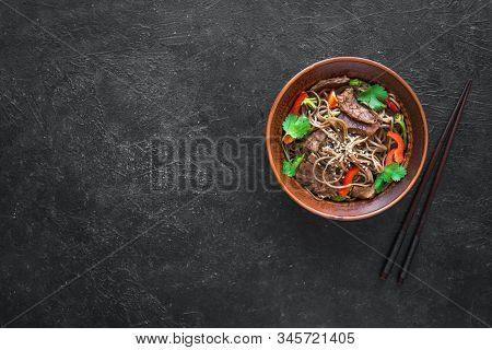 Stir Fried Soba And  Beef