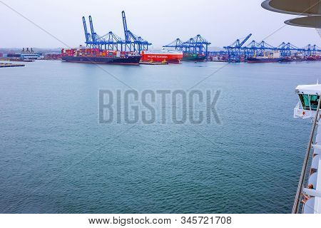 Colon, Panama - December 8, 2019: Colon Is A Sea Port On The Caribbean Sea Coast Of Panama. The City