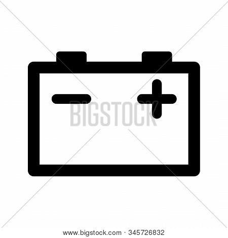 Car Battery Icon Isolated On White Background. Accumulator Battery Energy Power And Electricity Accu