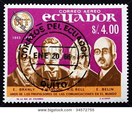 Postage stamp Ecuador 1966 Pioneers of Telecommunications