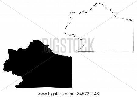 Clear Creek County, Colorado (u.s. County, United States Of America,usa, U.s., Us) Map Vector Illust