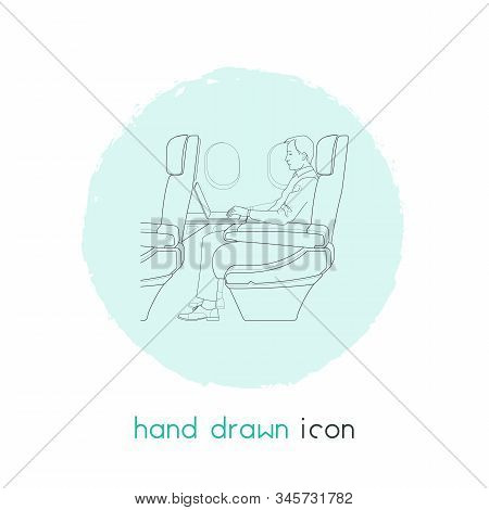 Business Class Seats Icon Line Element. Vector Illustration Of Business Class Seats Icon Line Isolat