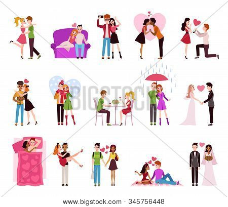 Hugging Couple In Love. Llifestyle Of Happy Romantic Couples, Loving Persons Girlfriend And Boyfrien