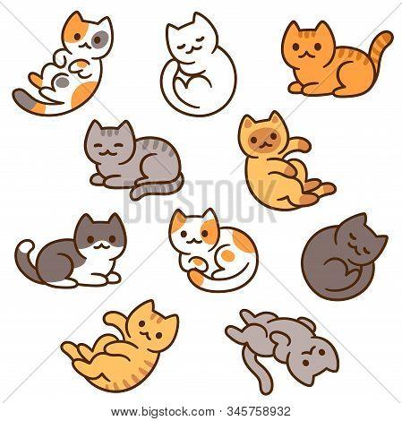 Cute Cartoon Cat Vector Photo Free Trial Bigstock