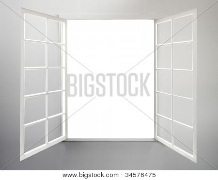 Modern residential window open