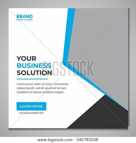 corporate social media post vector template, social media posts set. Business templates. Abstract design template, vector layouts in popular formats. Chemistry pattern, hexagonal molecule structure on blue. Medicine, science,