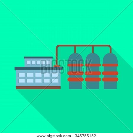 Isolated Object Of Manufactory And Powerhouse Icon. Collection Of Manufactory And Urban Vector Icon