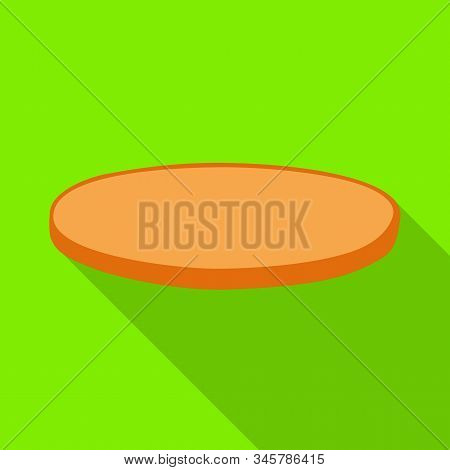 Isolated Object Of Bun And Bread Symbol. Web Element Of Bun And Slice Vector Icon For Stock.