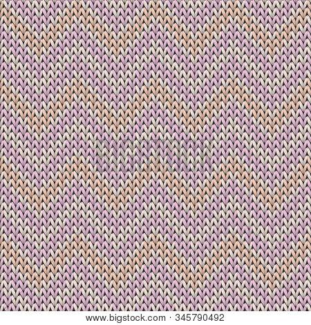 Woven Chevron Stripes Knit Texture Geometric Seamless Pattern. Blanket Knitwear Structure Imitation.
