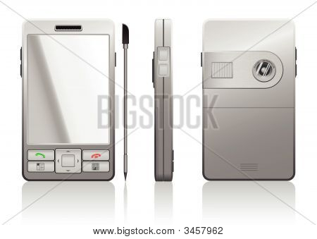 Vector Photorealistic Illustration Of Gray Pda
