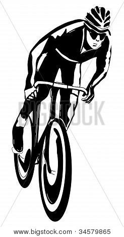 Cyclist, vector illustration