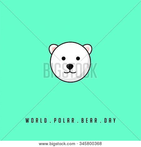 For World Polar Bear Day With Head Of Polar Bear For Template Design