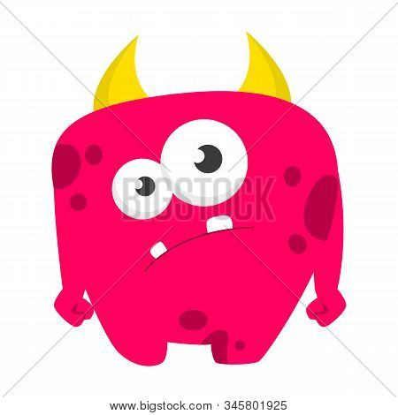 Monster Vector Isolated. Colorful And Cute Creature