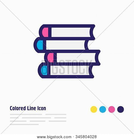 Vector Illustration Of Publish Icon Colored Line. Beautiful Education Element Also Can Be Used As Sc