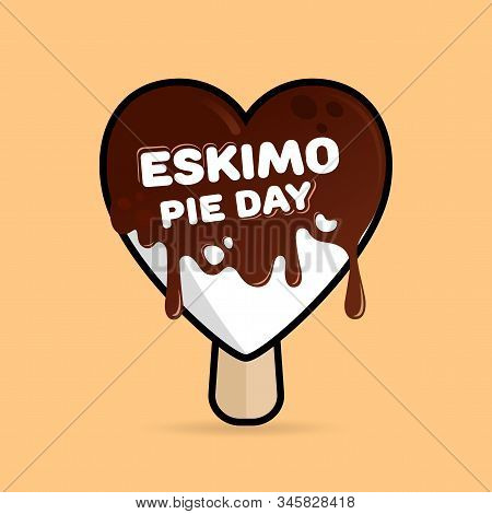 January 24th Is A Sweet Holiday, International Eskimo Pie Day. Ice Cream In A Heart Shaped Chocolate