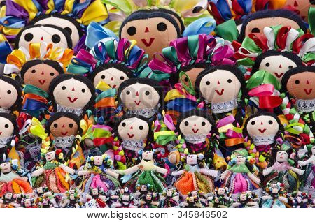 Maria Rag Dolls, Colorful Traditional Crafts Of Mexican Culture
