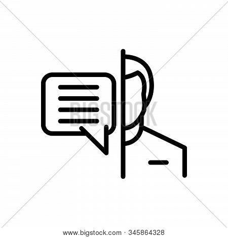 Black Line Icon For About Concerning Regarding Relating-to
