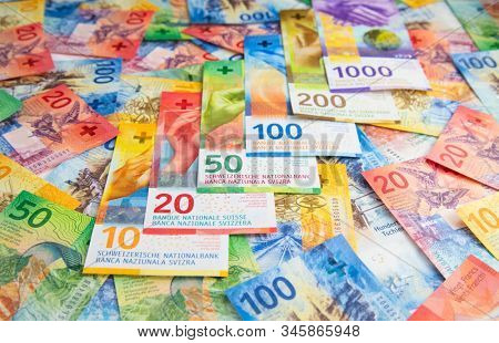 Collection of the new swiss banknotes (issued in 2017-2019)