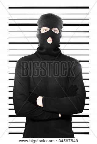 Mugshot Of A Busted Thief