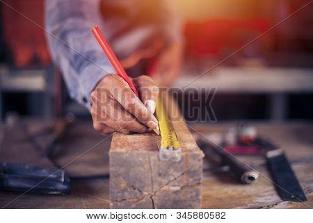 Woodworking Shop, Woodwork,carpentry Working, Hammer, Meter, Construction Background